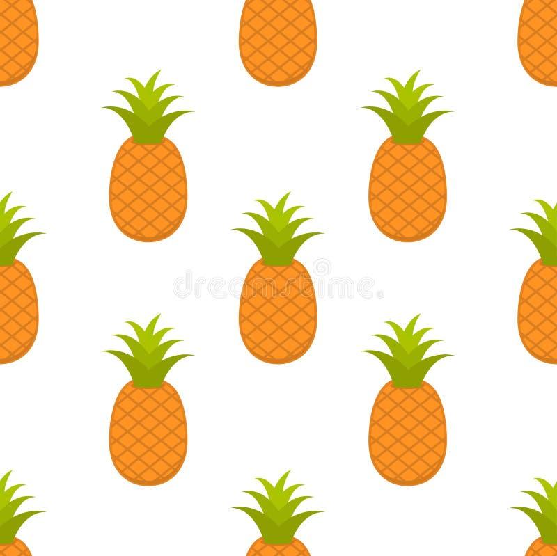 Sömlös modell med ananasfrukt royaltyfri illustrationer