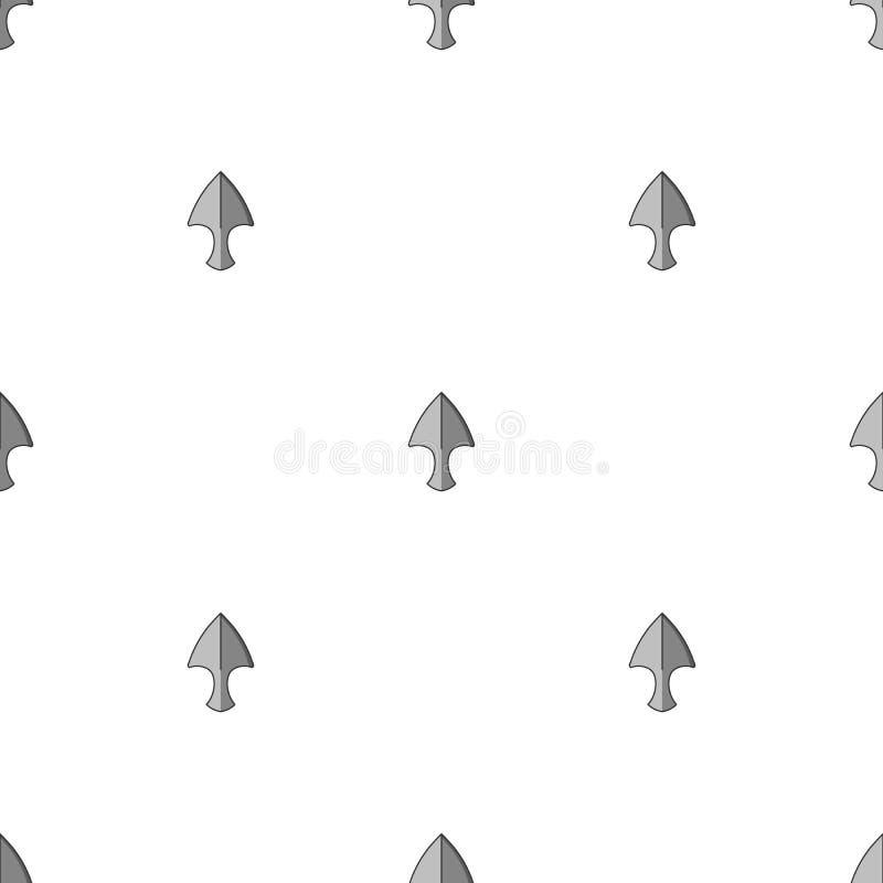 Sömlös modell med att kasta knivsymboler Ninja Weapon ocks? vektor f?r coreldrawillustration royaltyfri illustrationer