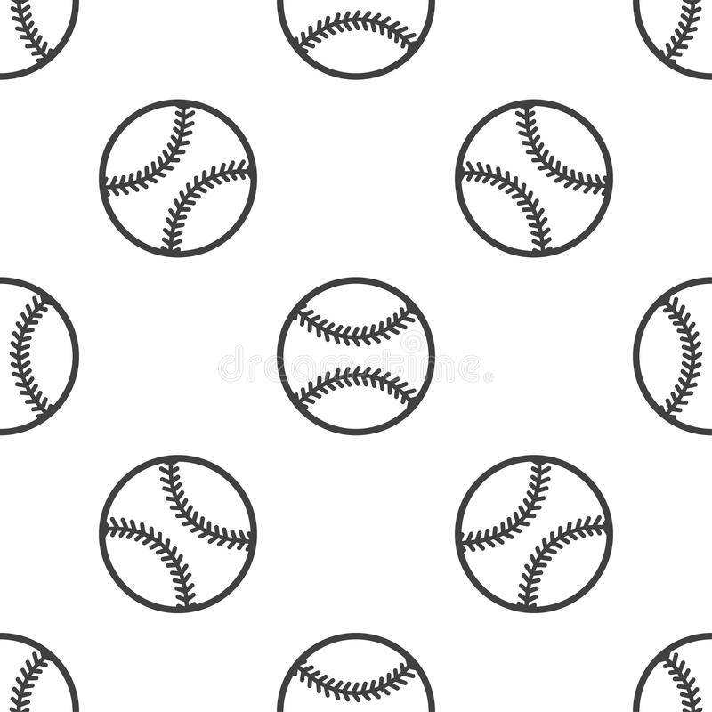 Sömlös modell med baseball stock illustrationer