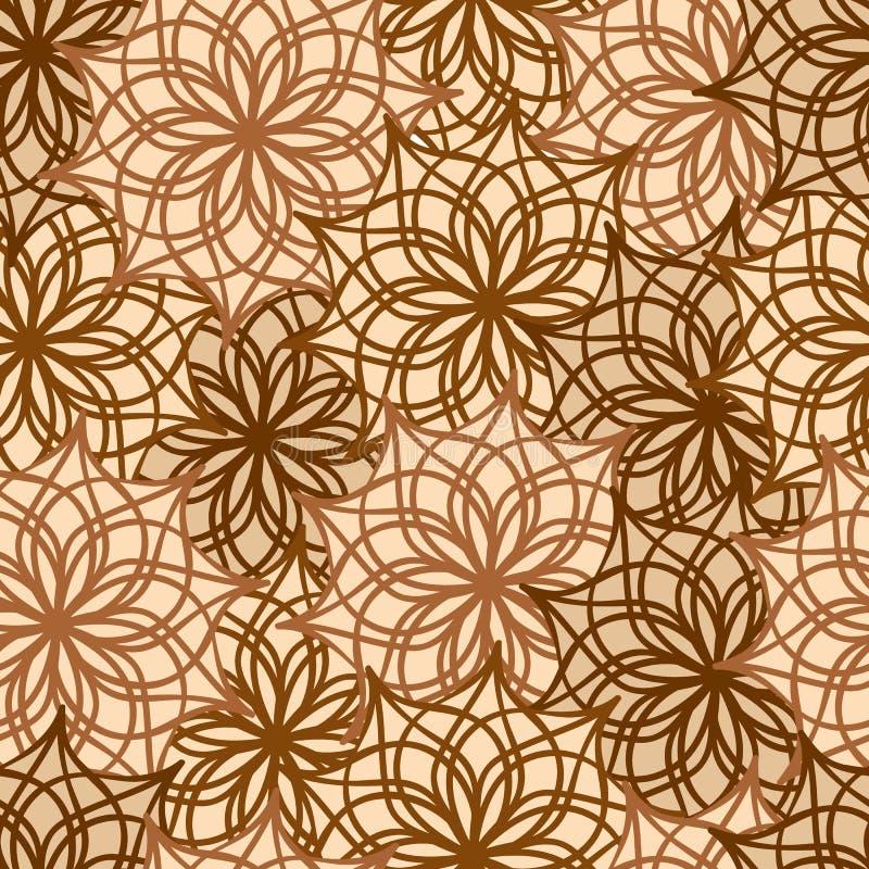 Sömlös modell med blom- dekorativt vektor illustrationer