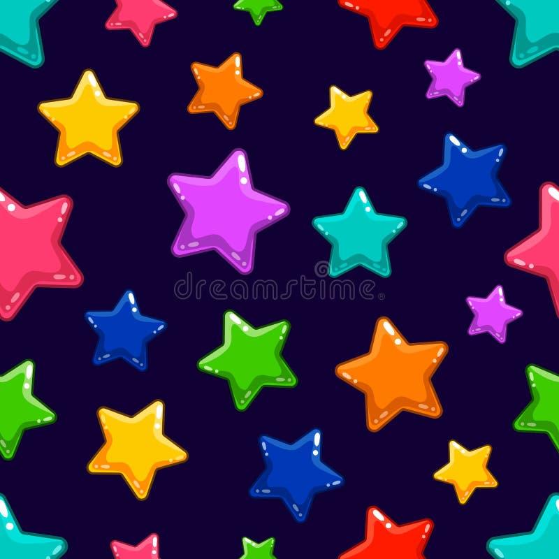 Sömlös modell med den färgrika stjärnan arkivfoto