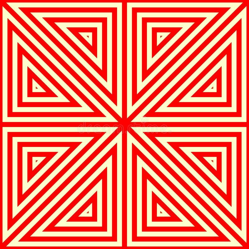 Sömlös modell med den symmetriska geometriska prydnaden vektor illustrationer