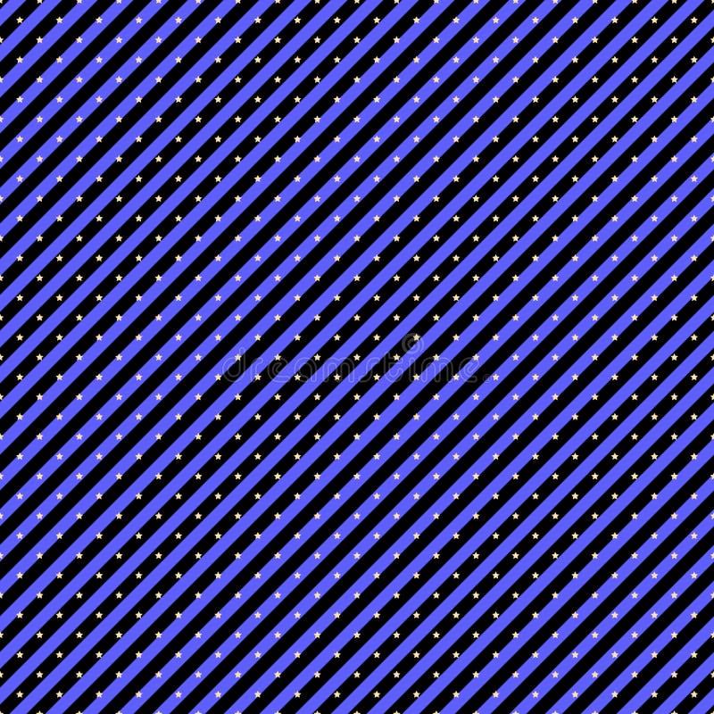 Sömlös modell med diagonalband och stjärnor in djupt - lilan färgar Magisk themed allhelgonaaftonferie stock illustrationer