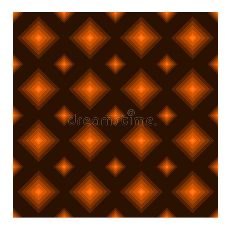 Sömlös modell med diamantform på brun bakgrund vektor illustrationer