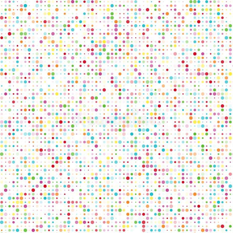 Sömlös modell med färgcirklar stock illustrationer