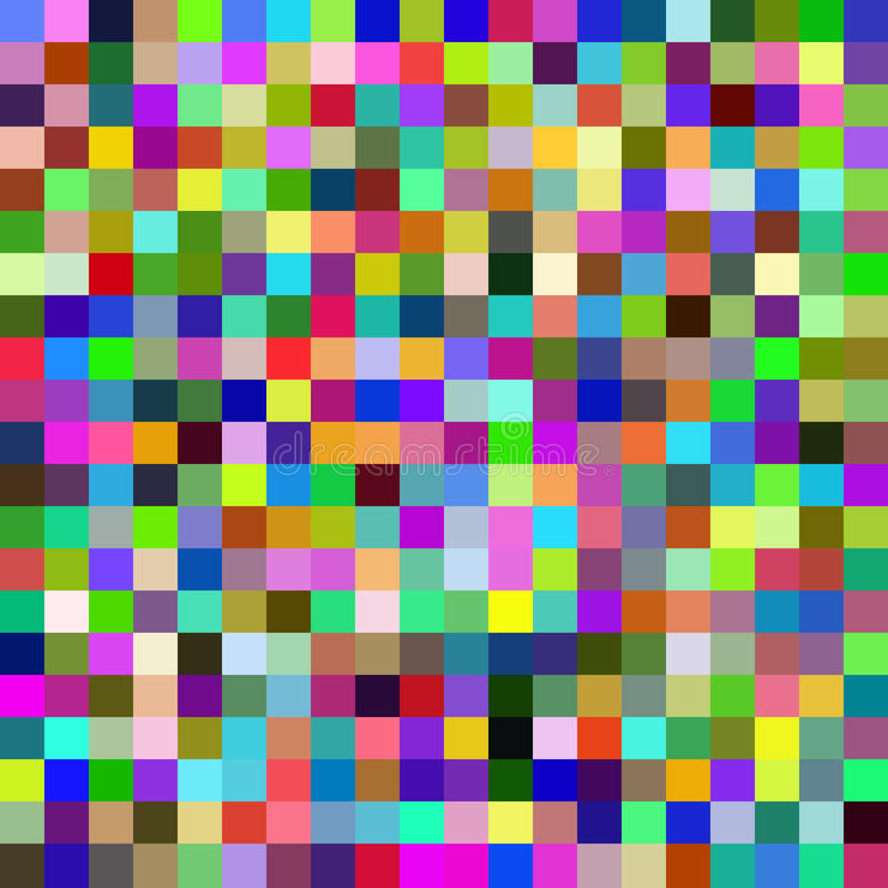 Sömlös modell med färgrika fyrkanter vektor royaltyfri illustrationer