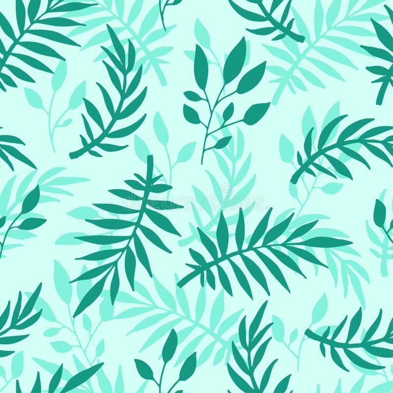Sömlös modell med för stilvektor för sidor den hand drog textilen för växt för sommar för design för natur för illustration blom- vektor illustrationer