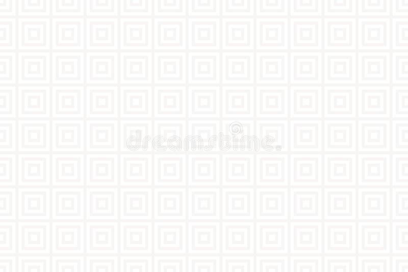 Sömlös modell med grå färg- och vitprydnaden Geometrisk bakgrund för vektor royaltyfri illustrationer