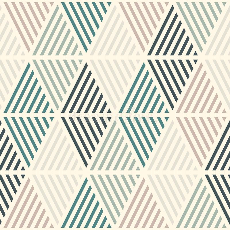 Sömlös modell med kläckte diamanter Argyle tapet Romb- och rombmotiv Upprepade geometriska diagram royaltyfri illustrationer