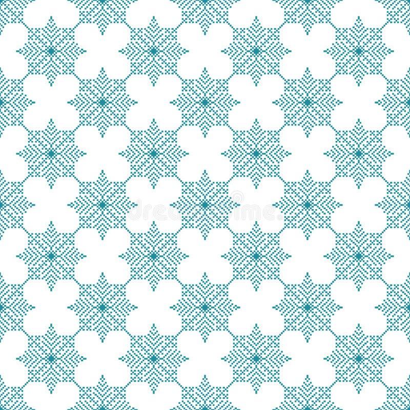 Sömlös modell med ljus julbakgrund för abstrakta snöflingor royaltyfri illustrationer