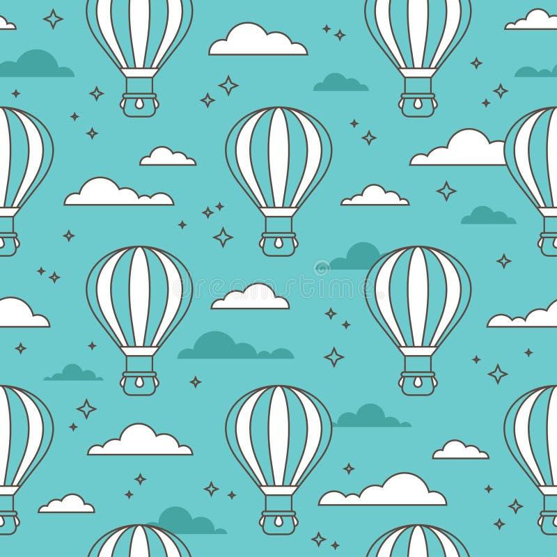 Sömlös modell med luftballonger stock illustrationer