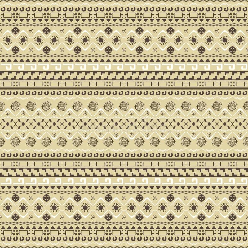 Sömlös modell med Mayastilbeståndsdelar vektor illustrationer