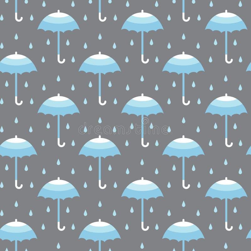 Sömlös modell med paraplyer vektor illustrationer