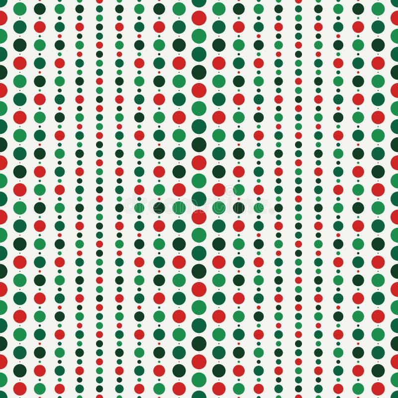 Sömlös modell med rader av pärlmotivet Hängande girlandbakgrund Papper för traditionella färger för jul digitalt royaltyfri illustrationer