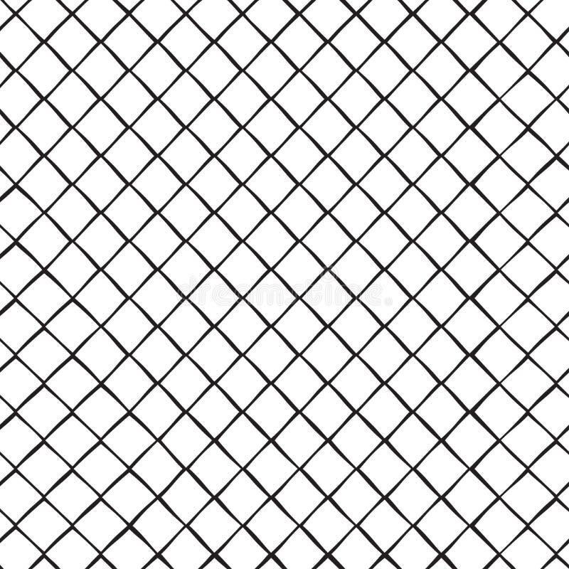 Sömlös modell med rombceller, galler ocks? vektor f?r coreldrawillustration royaltyfri illustrationer