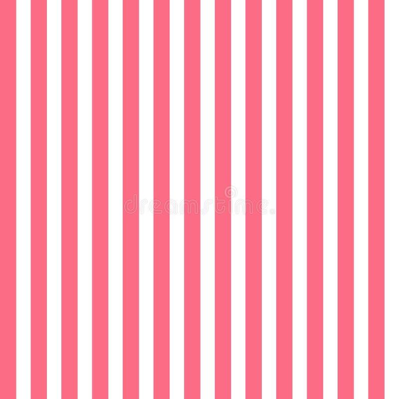 Sömlös modell med rosa och vita vertikala band vektor illustrationer