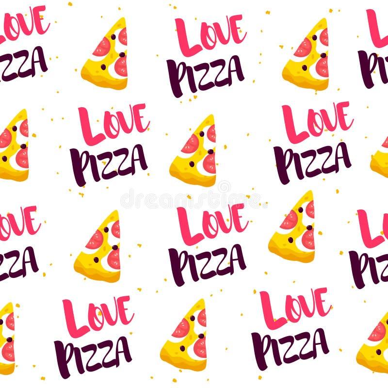 S?ml?s modell med skivan av pizza och text p? vit bakgrund vektor vektor illustrationer