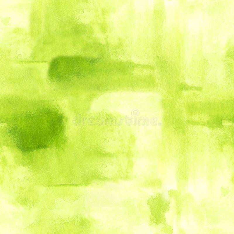 Sömlös modell med vattenfärgborsteslaglängder Grön easter bakgrund för scrapbooking stock illustrationer