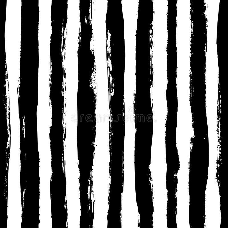 Sömlös modell med vertikala grungeband Geometrisk textur för vektor royaltyfri illustrationer
