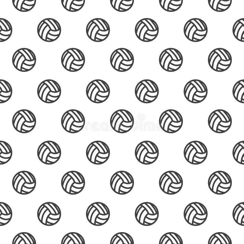Sömlös modell med volleyboll stock illustrationer