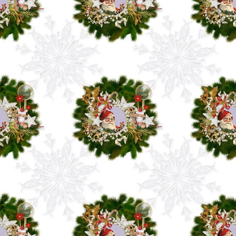 Sömlös modell på jul theme-5 royaltyfria foton
