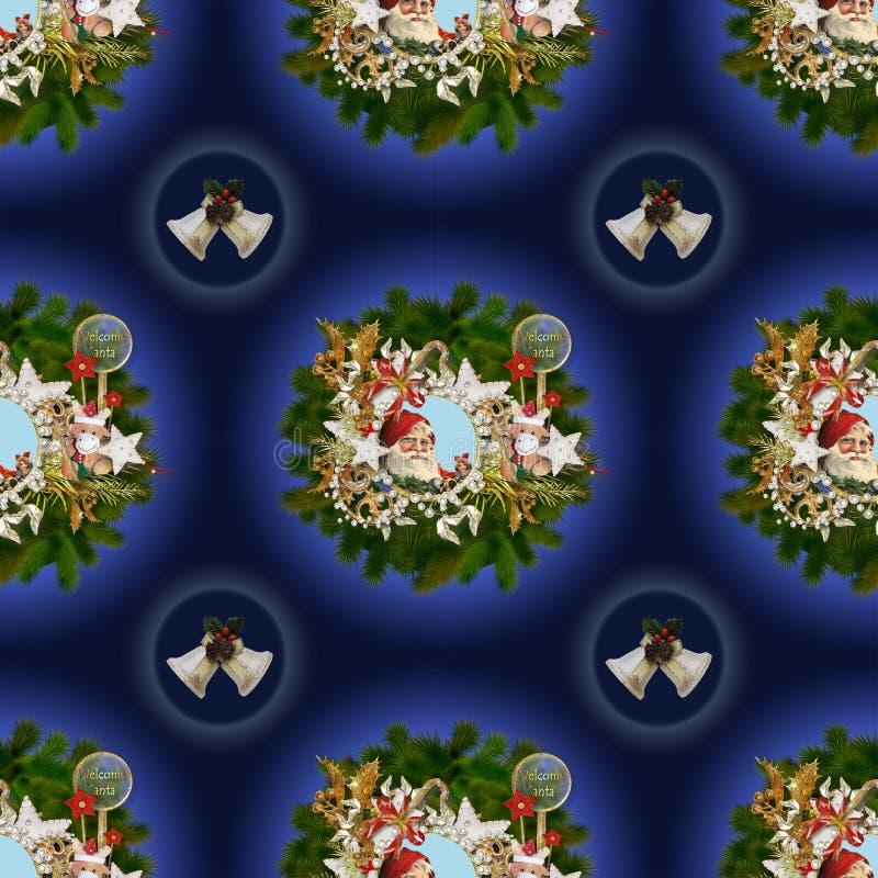 Sömlös modell på jul theme-6 royaltyfria foton