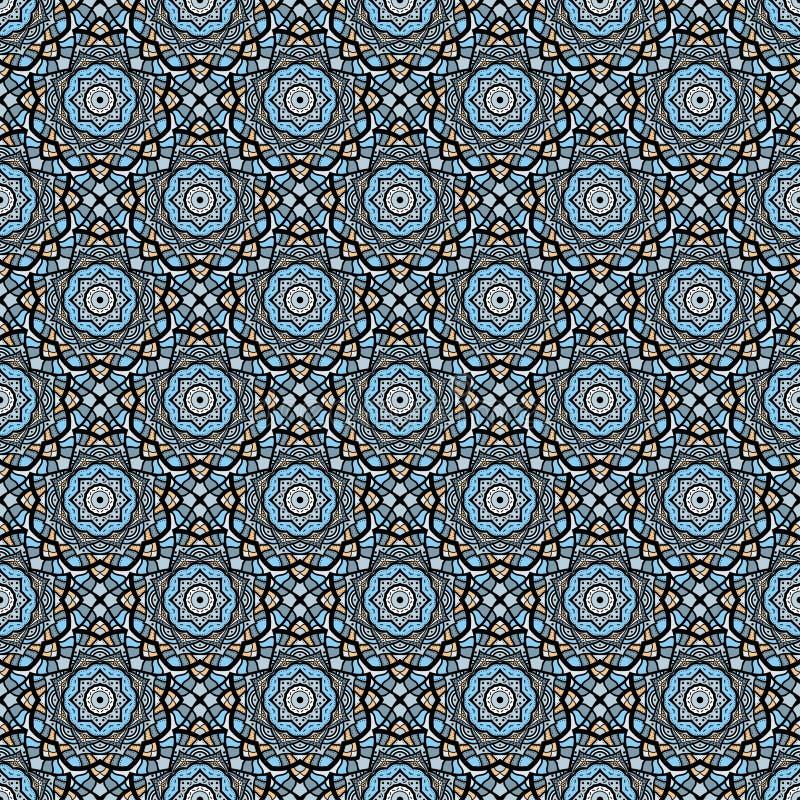 Sömlös modellbakgrund för färgrik mosaik stock illustrationer