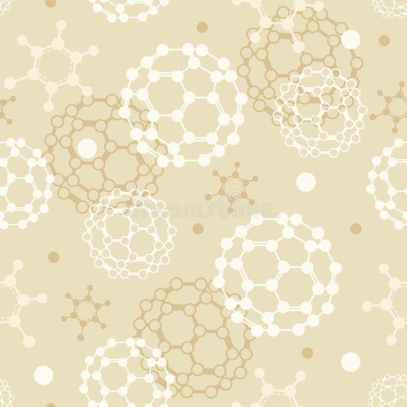 Sömlös modellbakgrund för molekylar stock illustrationer