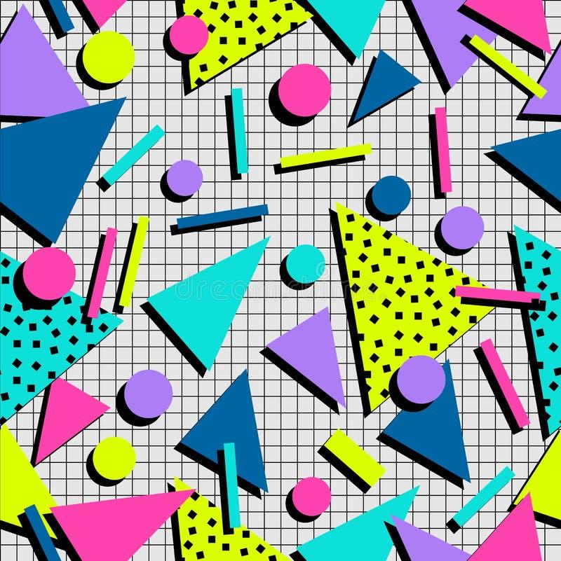 Sömlös modellbakgrund för Retro 80-tal royaltyfri illustrationer