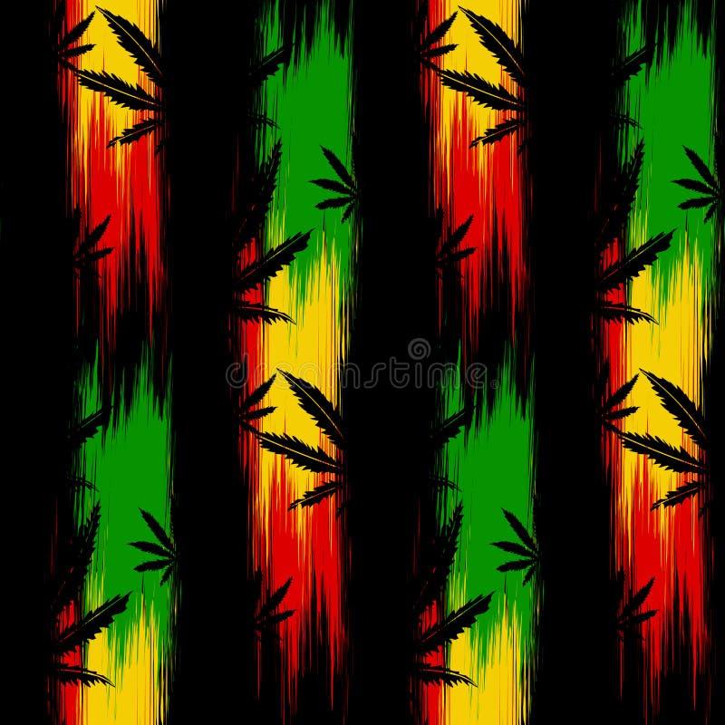 Sömlös modellcannabis royaltyfri illustrationer