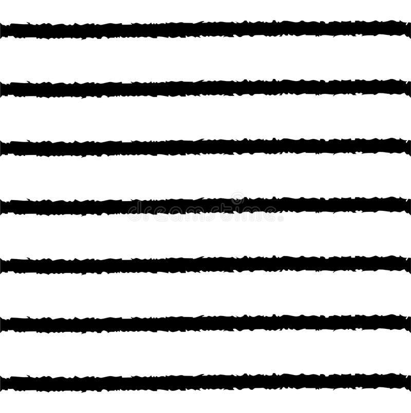 Sömlös modelldesign för band i svartvitt vektor illustrationer