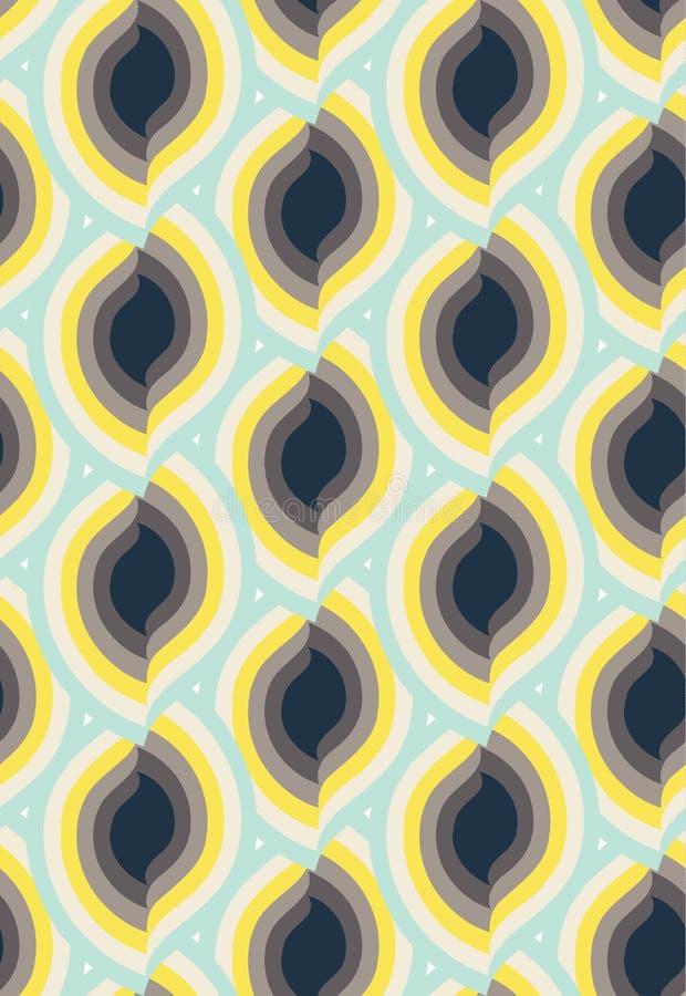Sömlös modellprydnad för vektor Elegant lyxig textur för textil, tyger eller tapetbakgrunder vektor illustrationer