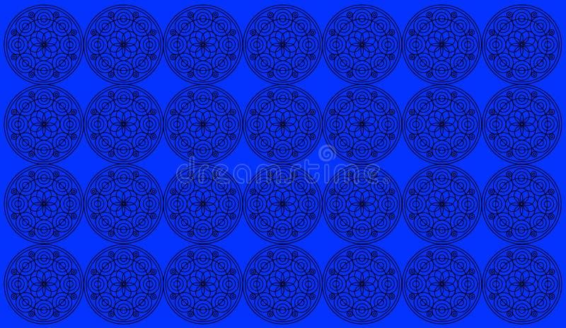 Sömlös modelltegelplatta med runda blom- mandalas Islam yoga, arabiskt som är indisk, ottomanmotiv Göra perfekt för utskrift på t arkivbild