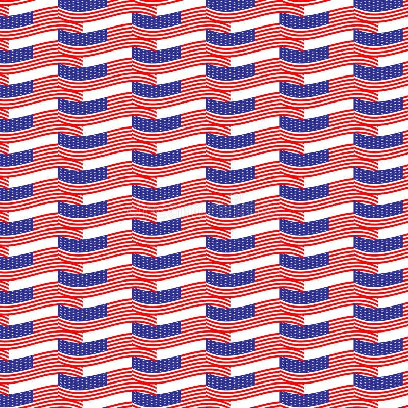 Sömlös modellUSA-flagga vektor illustrationer