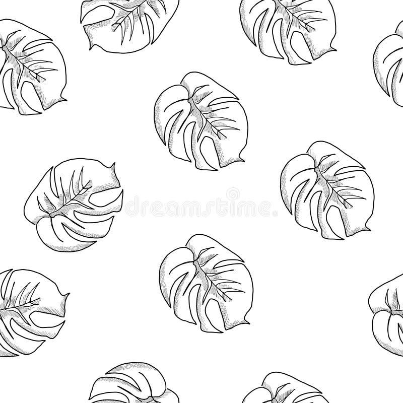 Sömlös modellvektor för härliga och färgrika blommor stock illustrationer