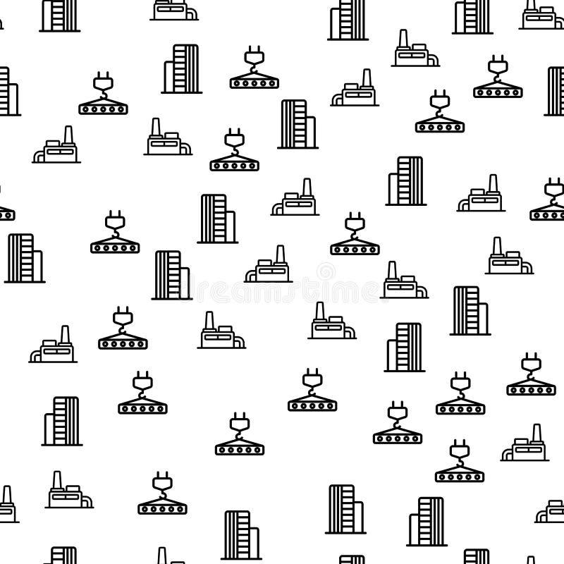 Sömlös modellvektor för industriell konstruktion stock illustrationer
