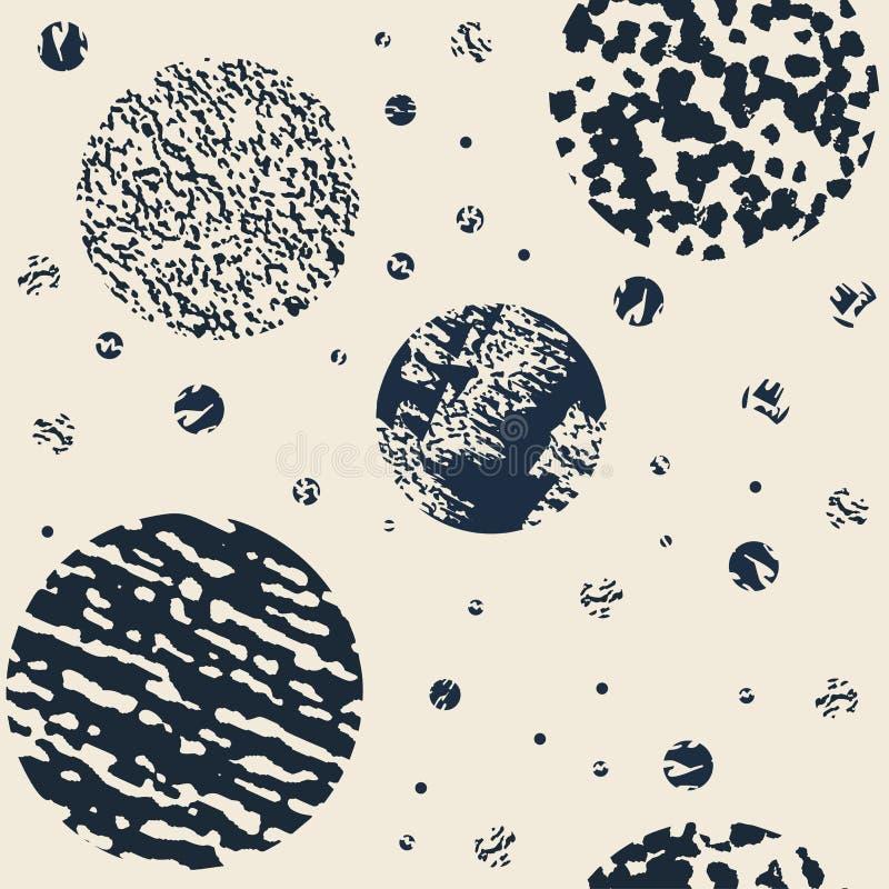 Sömlös modern texturerad färgrik grungemodell Bakgrund med den grafiska prydnaden för mång--färg kombinationer EPS10 stock illustrationer