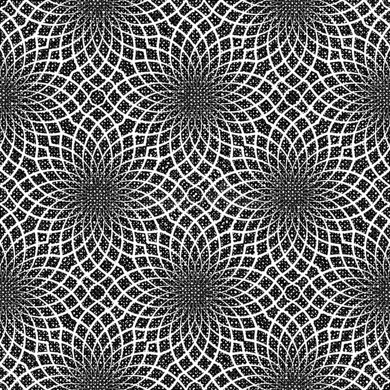 Sömlös monokrom dekorativ modell för design stock illustrationer