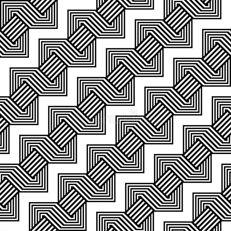 Sömlös monokrom geometrisk modell för design stock illustrationer