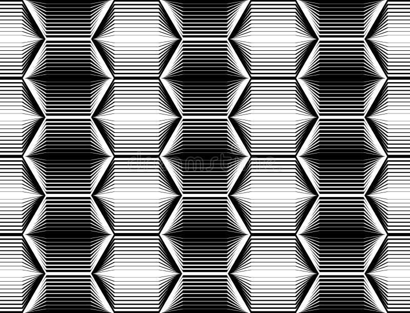Sömlös monokrom sexhörningsmodell för design vektor illustrationer