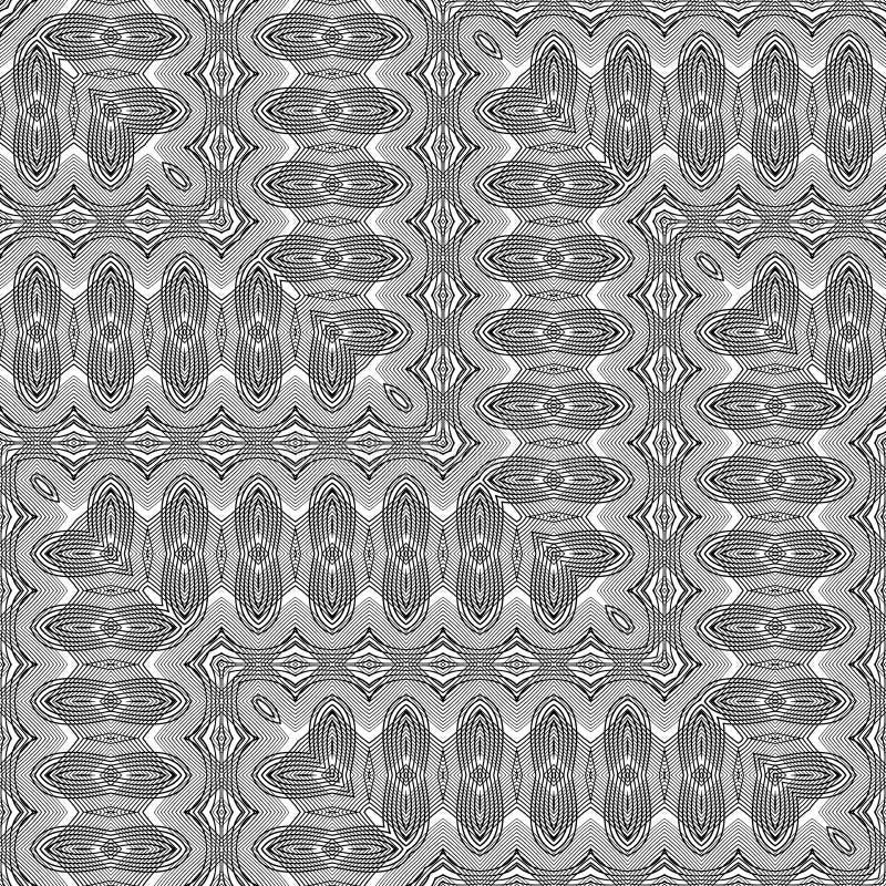 Sömlös monokrom sicksackmodell för design royaltyfri illustrationer