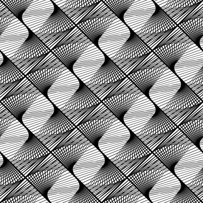 Sömlös monokrom spets- modell för design royaltyfri illustrationer
