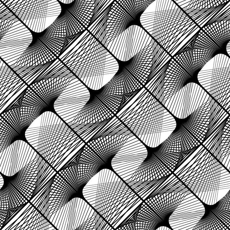 Sömlös monokrom spets- modell för design stock illustrationer