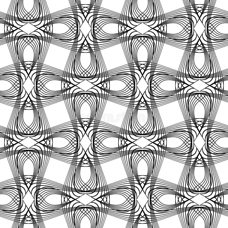 Sömlös monokrom vinkande modell för design vektor illustrationer