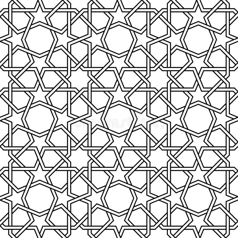 Sömlös moroccan mosaik royaltyfri illustrationer