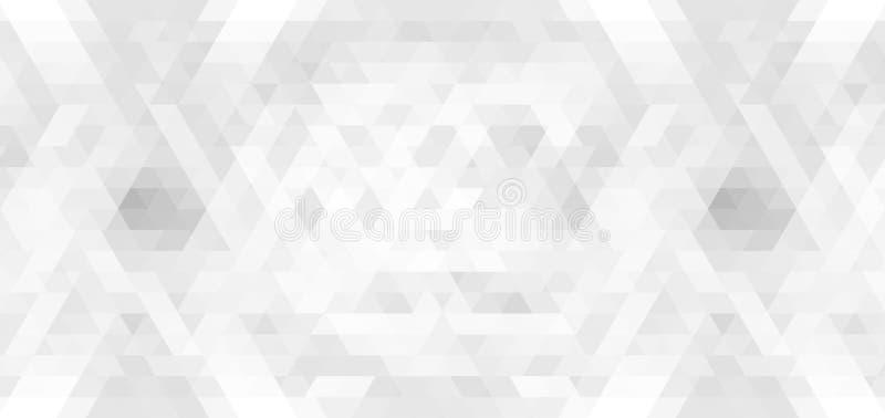 Sömlös mosaikmodell för silver Abstrakt grå bakgrund för banret, affisch, kort, webpagedesign stock illustrationer