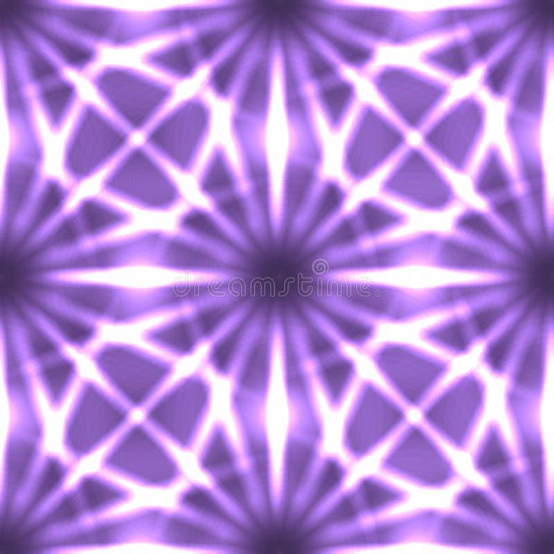 Sömlös neontextur från strålar och linjer på mörk bakgrund stock illustrationer
