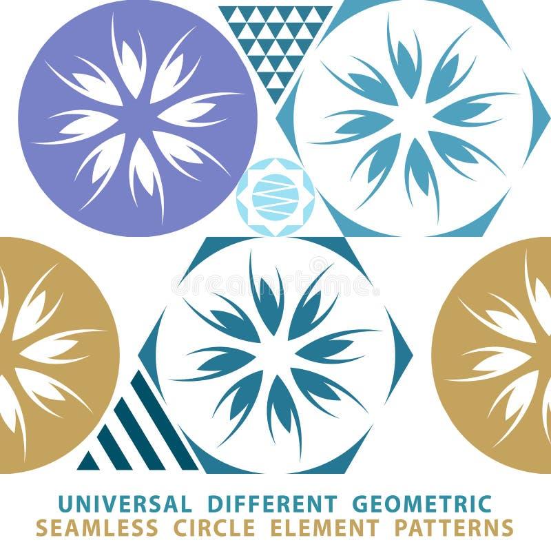 Sömlös patchworkbakgrund för vektor från mörker - blått- och vitprydnader, geometriska modeller, vektor illustrationer