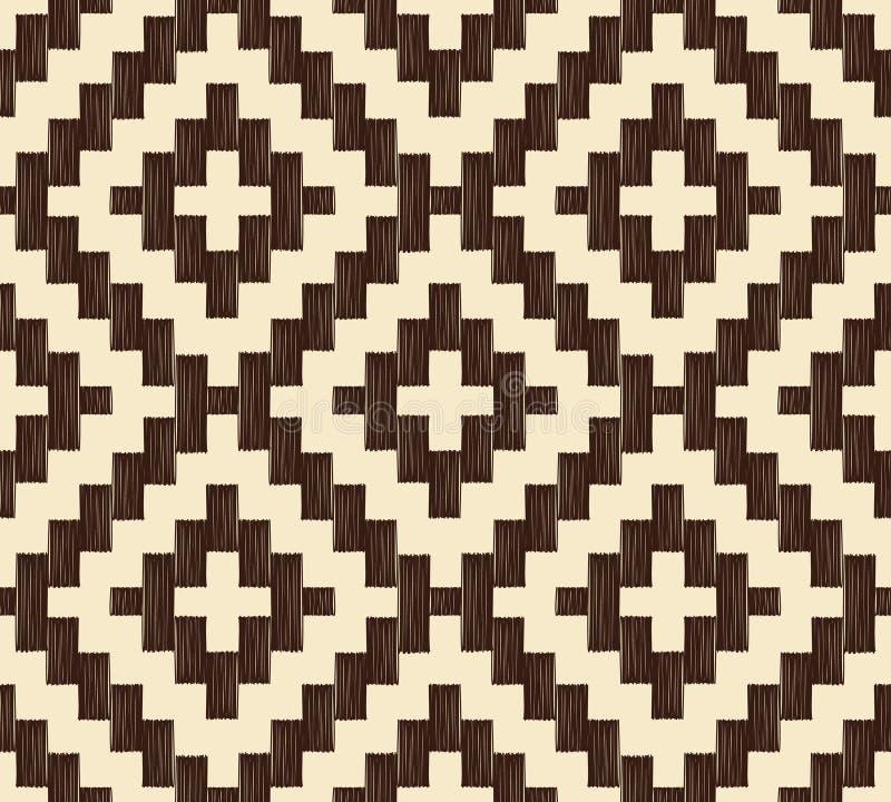 Sömlös pixelated fyrkantig ingreppsbakgrund vektor illustrationer