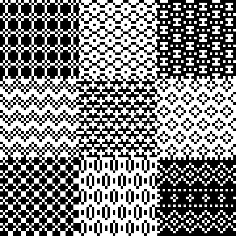 Sömlös PIXELmodelluppsättning royaltyfri illustrationer